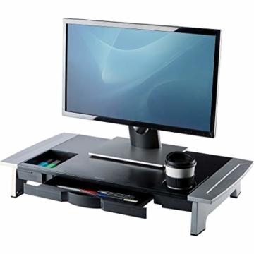 Fellowes 8031001 Office Suites Premiummonitorständer schwarz/silber - 1