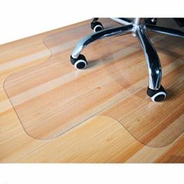 Giovara Transparente Stuhlmatte mit Lippe für harte Böden, 90 x 120 cm, hohe Stoßfestigkeit, rutschfestes, nicht-recyceltes Material - 1