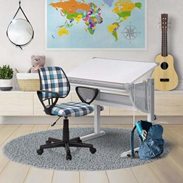 hjh OFFICE Kinderschreibtisch Belia höhenverstellbar + neigbar Weiss/Silber - 3
