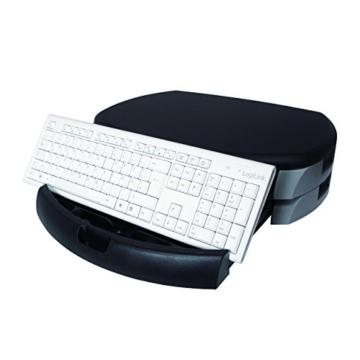 LogiLink® Bildschirm- und Druckerständer mit Stabiler Holzplatte (2cm Dicke) mit 2X Schubladen - 11