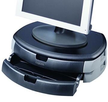 LogiLink® Bildschirm- und Druckerständer mit Stabiler Holzplatte (2cm Dicke) mit 2X Schubladen - 6