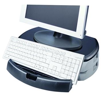 LogiLink® Bildschirm- und Druckerständer mit Stabiler Holzplatte (2cm Dicke) mit 2X Schubladen - 8