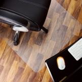 Marvelux Polycarbonat Bodenschutzmatte für Hartböden | 90 x 120 cm | rechteckig, transparent | in verschiedenen Größen erhältlich - 1