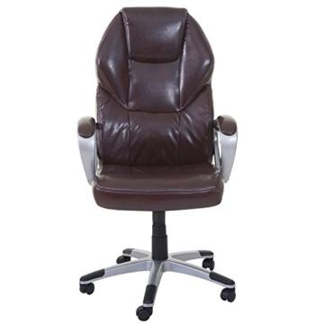 Mendler Massage-Bürostuhl HWC-A69, Drehstuhl Chefsessel, Heizfunktion Massagefunktion Kunstleder ~ Bordeaux - 4