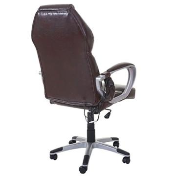 Mendler Massage-Bürostuhl HWC-A69, Drehstuhl Chefsessel, Heizfunktion Massagefunktion Kunstleder ~ Bordeaux - 6
