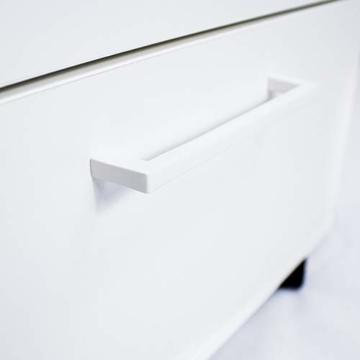 Profi Optima Rollcontainer 60cm tief weiß Rollschrank Büro Container Schrank - 2