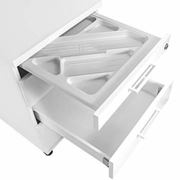 Profi Optima Rollcontainer 60cm tief weiß Rollschrank Büro Container Schrank - 3