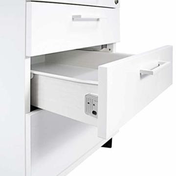 Profi Optima Rollcontainer 60cm tief weiß Rollschrank Büro Container Schrank - 5