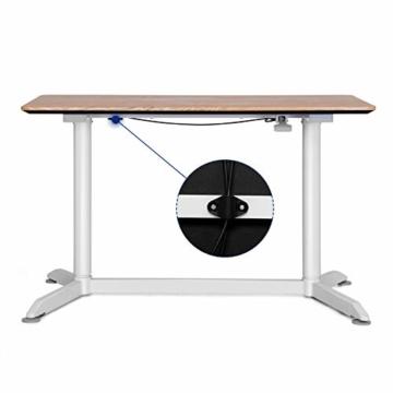 SONGMICS höhenverstellbarer Schreibtisch, Sitz-Stehtisch mit verstellbaren Füße, höhenverstellbarer Arbeitsplatz für Computer, Monitore und Laptops, natürliche Maserung, LAD08NW - 2