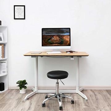 SONGMICS höhenverstellbarer Schreibtisch, Sitz-Stehtisch mit verstellbaren Füße, höhenverstellbarer Arbeitsplatz für Computer, Monitore und Laptops, natürliche Maserung, LAD08NW - 6
