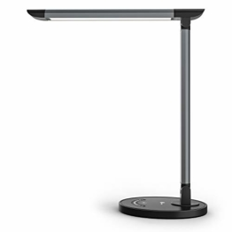 TaoTronics Schreibtischlampe LED 12W Büro Tischleuchte 5 Farb und 7 Helligkeitsstufen dimmbar Memory-Funktion USB-Anschluss für Aufladung des Smartphones Tischlampe Augenschutz Touchfeldbedienung - 1